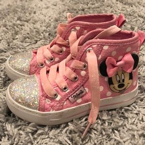 Other - Minnie Mouse High Top Sneakers- Disney- Size 8c